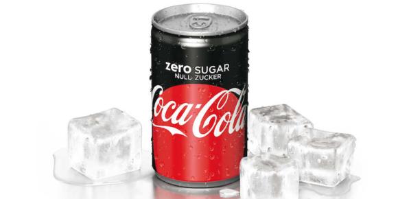 Coca-Cola Zero zuckerfreie Limonade mit starkem Wachstum