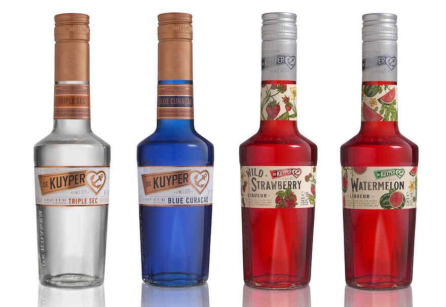 De Kuyper in neuem Design - Essentials und Variations je zwei Flaschen