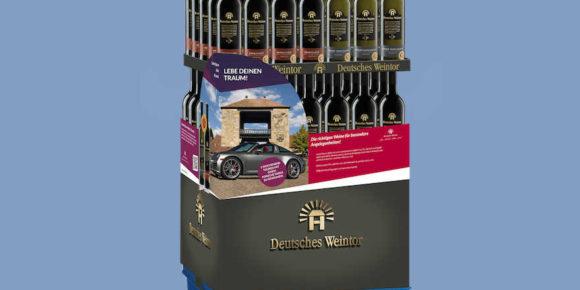 Display Deutsches Weintor für Dornfelder-Weine und Grauburgunder