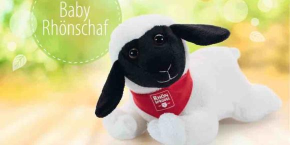 Plüsch-Schaf als Zugabe bei Rhönsprudel