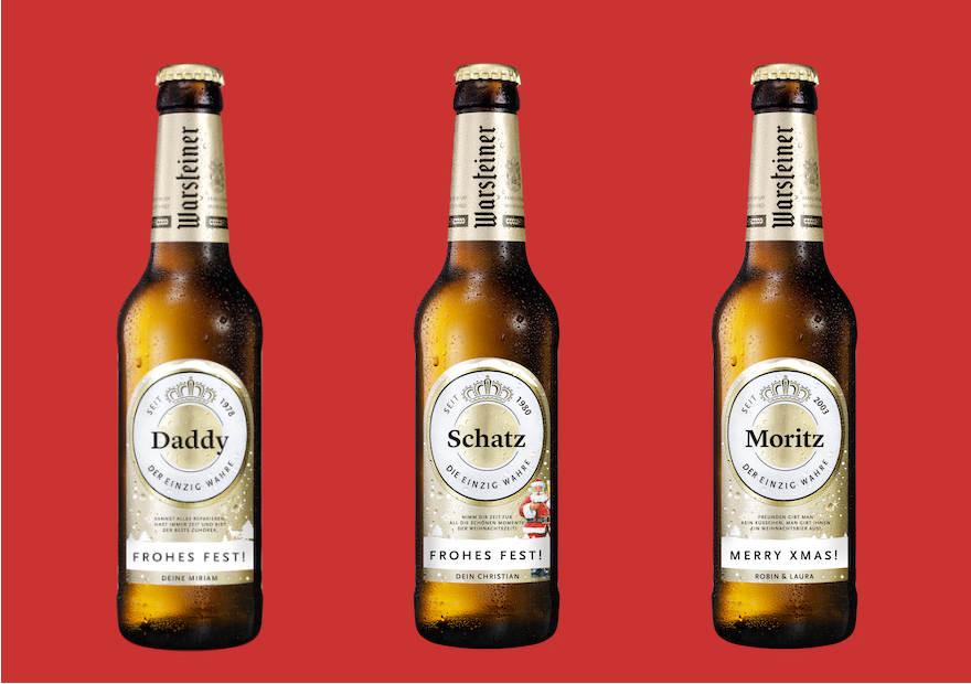Persönliche Bier-Grüße