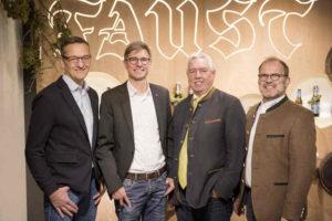v.l.n.r.: Johannes Faust, Thorsten Märker, Winfried Müller, Cornelius Faust