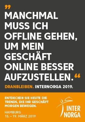 Werbeanzeige Internorga Gastronomie Messe Hamburg