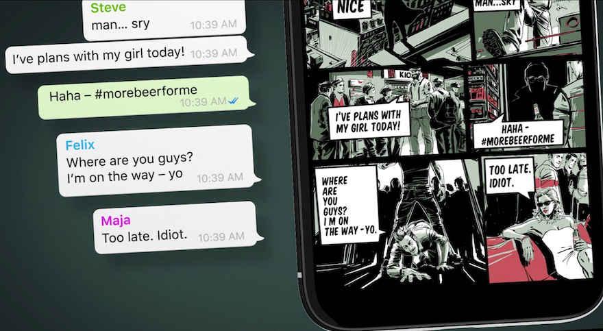 Chatverlauf als Comic2