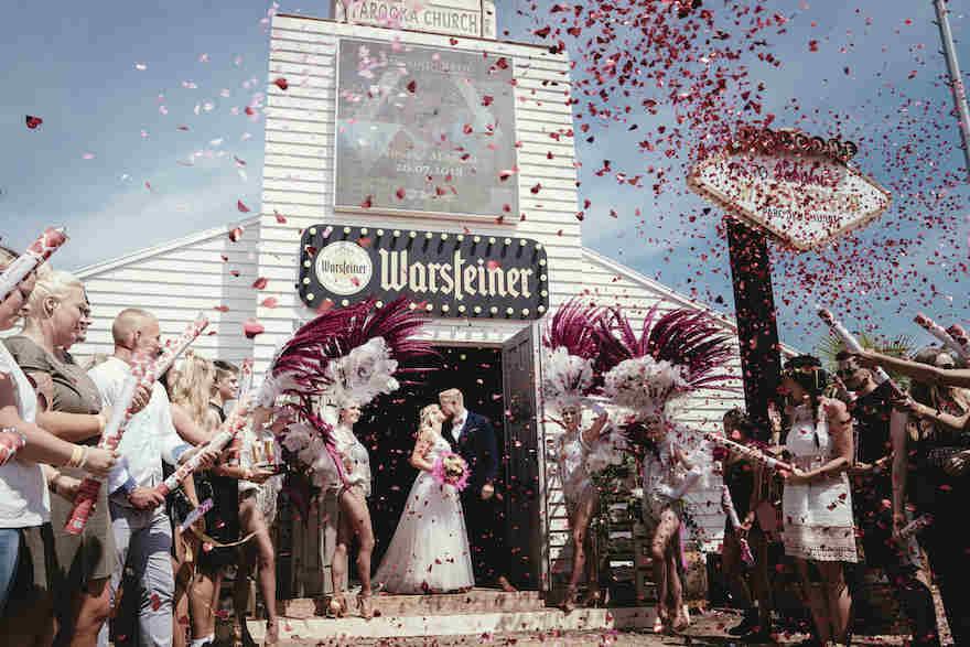 Hochzeit auf Festival