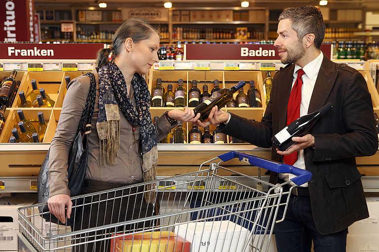 Deutsche Weine gewinnen im LEH