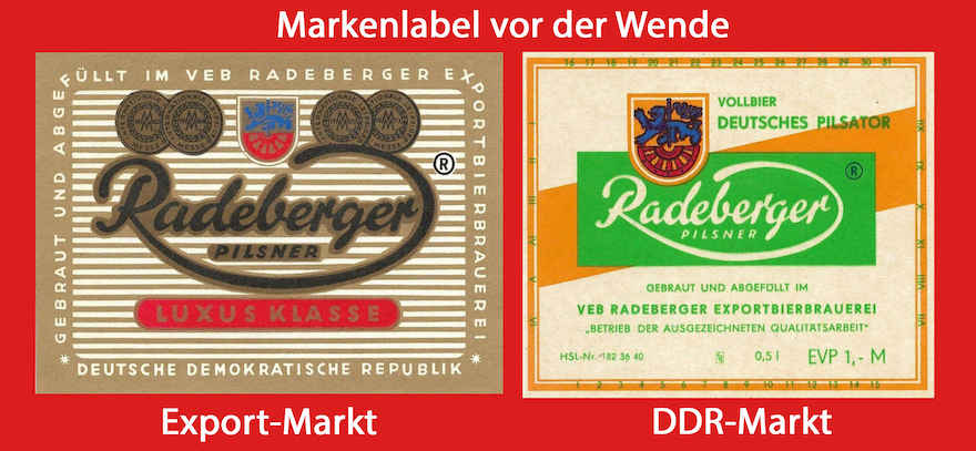 Etiketten Radeberger