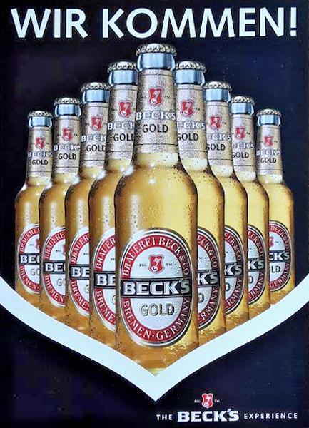 Werbemotiv Beck's Gold