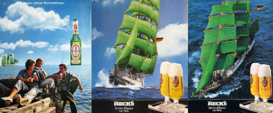 Becks Werbemotive Schiff