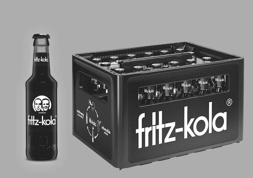 Fritz-Kola mit neuer Gastroflasche