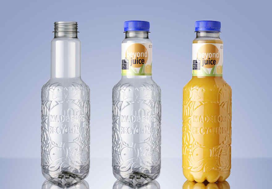 Neue Saftflasche für weniger Plastikmüll