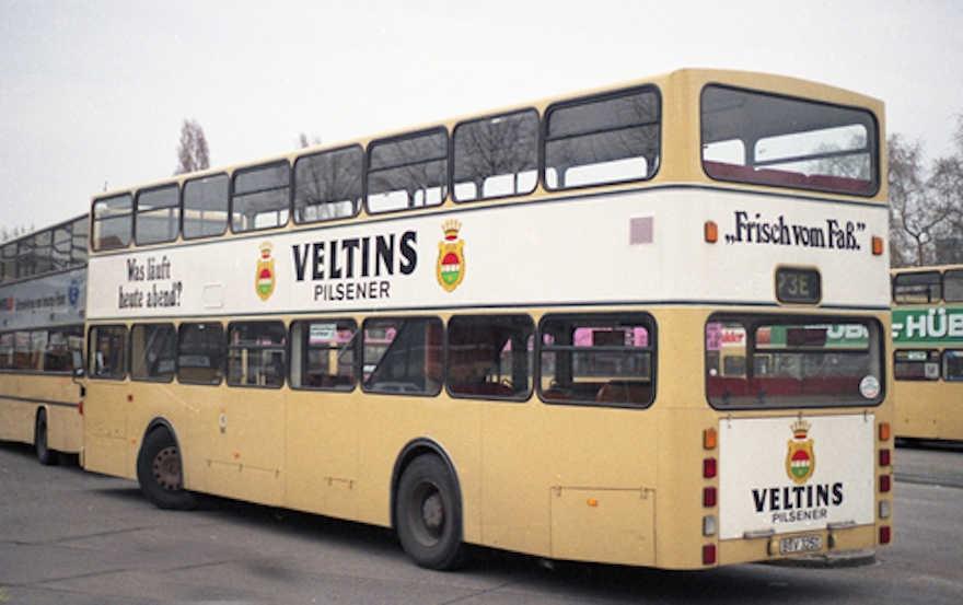 Veltins Buswerbung 1990