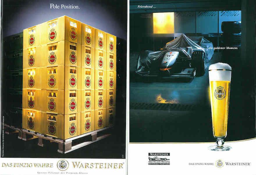 Warsteiner Werbemotive 1997 und 2000