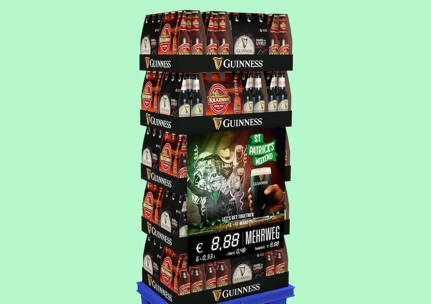 Guinness Display zu St. Patrick's Day