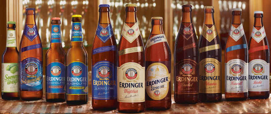Sortiment der Erdinger Brauerei