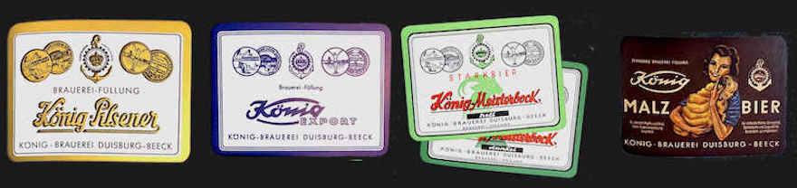 Die vier Sorten Strategie der König Brauerei aus dem Jahr 1958