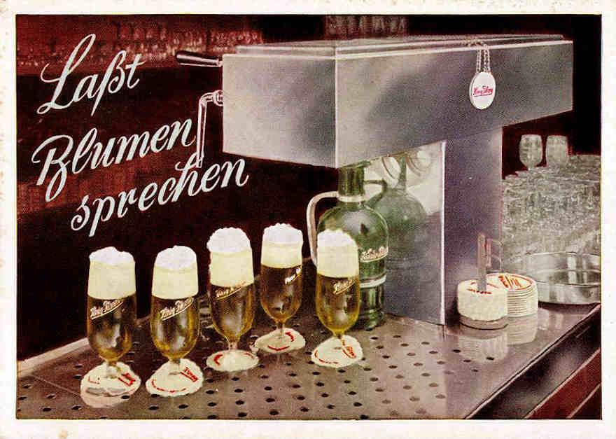 Werbemotiv 1960 König Pilsener