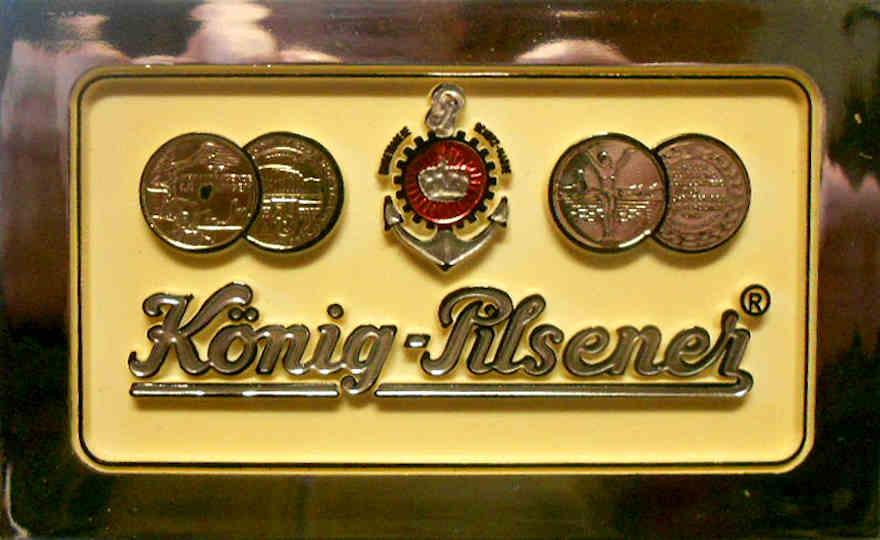 Zapfhahnschild von König Pilsener aus den 1970er-Jahren