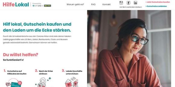 Metro-Webseite Hilfe-Lokal