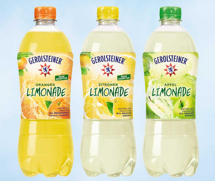 Gerolsteiner-Limos mit weniger Zucker