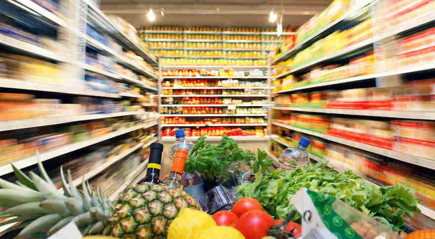 Lebensmittelhandel legt deutlich zu