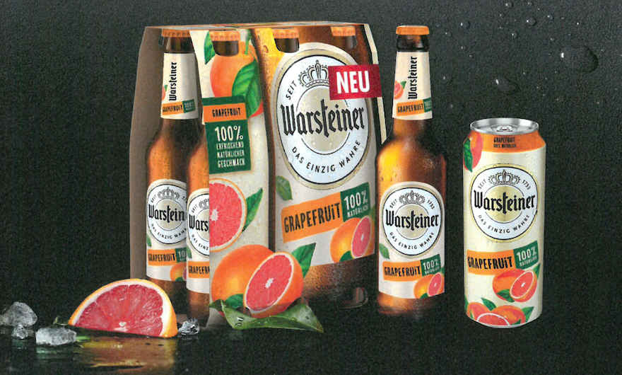 Warsteiner bringt Grapefruit-Mix