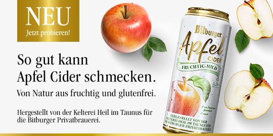 Werbeanzeige Bitburger Cider