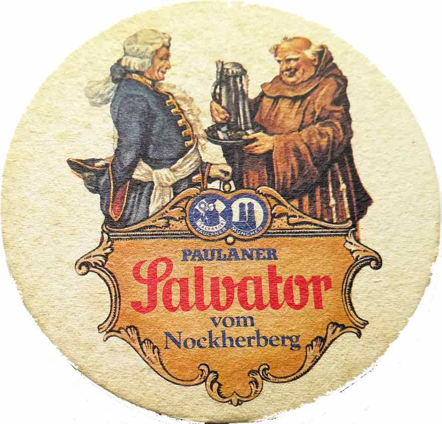 Alter Bierdeckel Paulaner Salvator