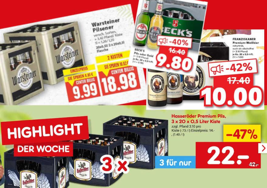 Bierpreise im freien Fall