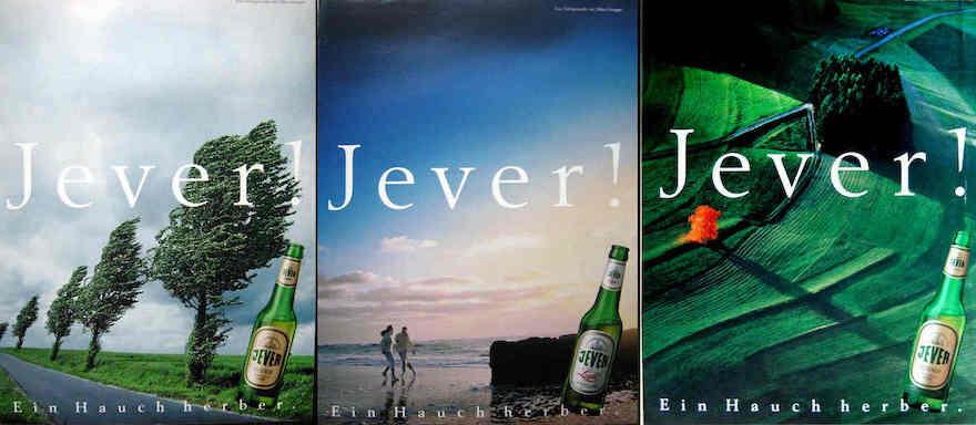 Jever-Werbemotive von 1991 und 1993