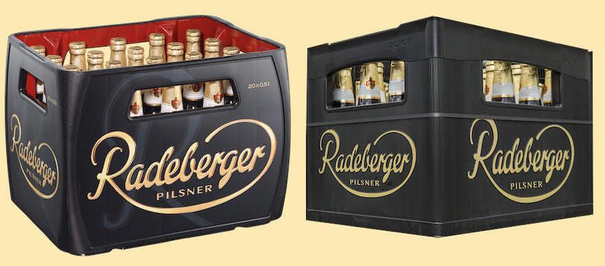 Neuer und alter Radeberger Kasten