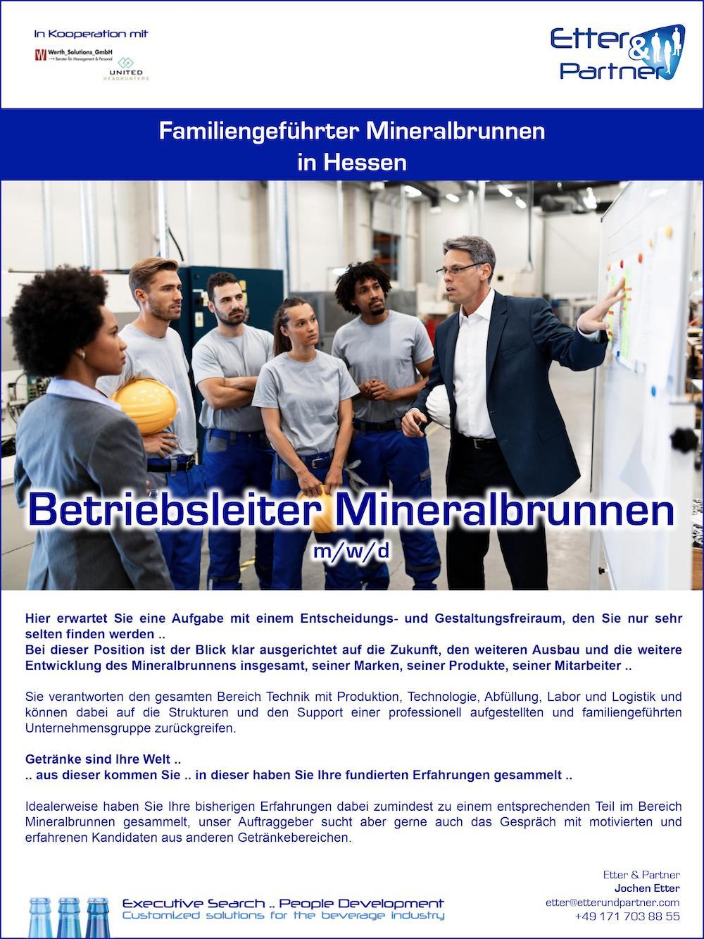 Betriebsleiter Mineralbrunnen m/w/d