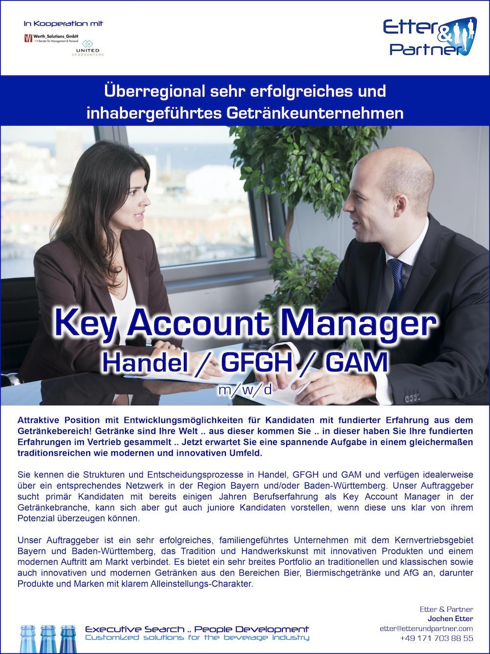 Key Account Manager Handel/GFGH/GAM (m/w/d)