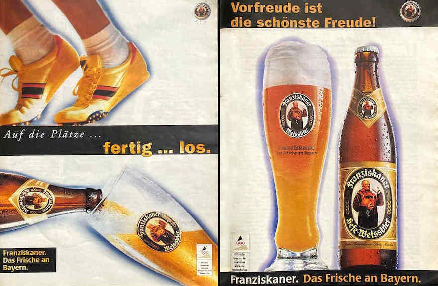 Franziskaner Werbung von 1996 und 1998