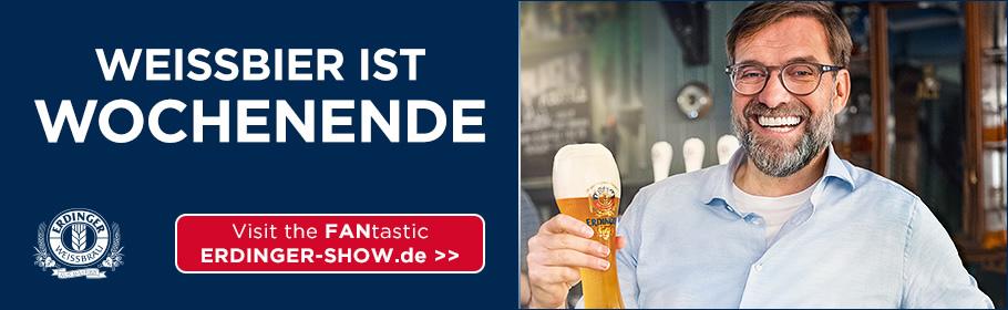 """Werbeanzeige Erdinger """"Weißbier ist Wochenende"""""""