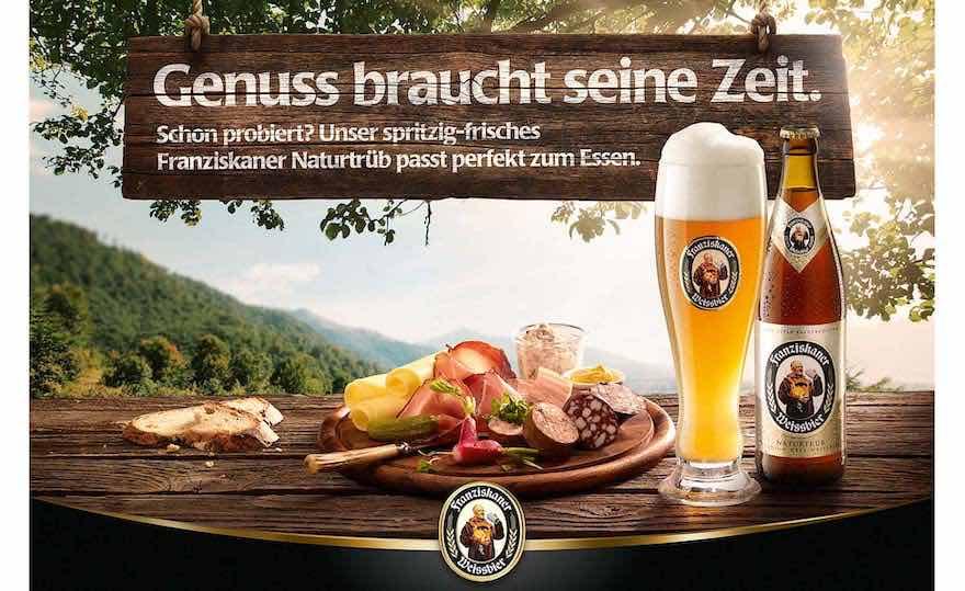 Franziskaner Werbung stellt Genuss in den Mittelpunkt