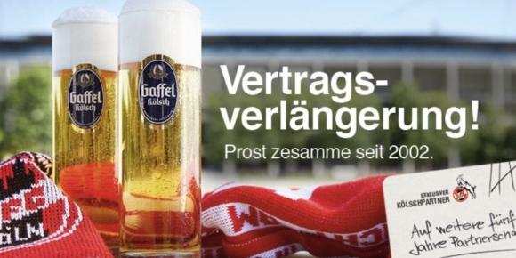 Gaffel verlängert Vertrag mit FC Köln