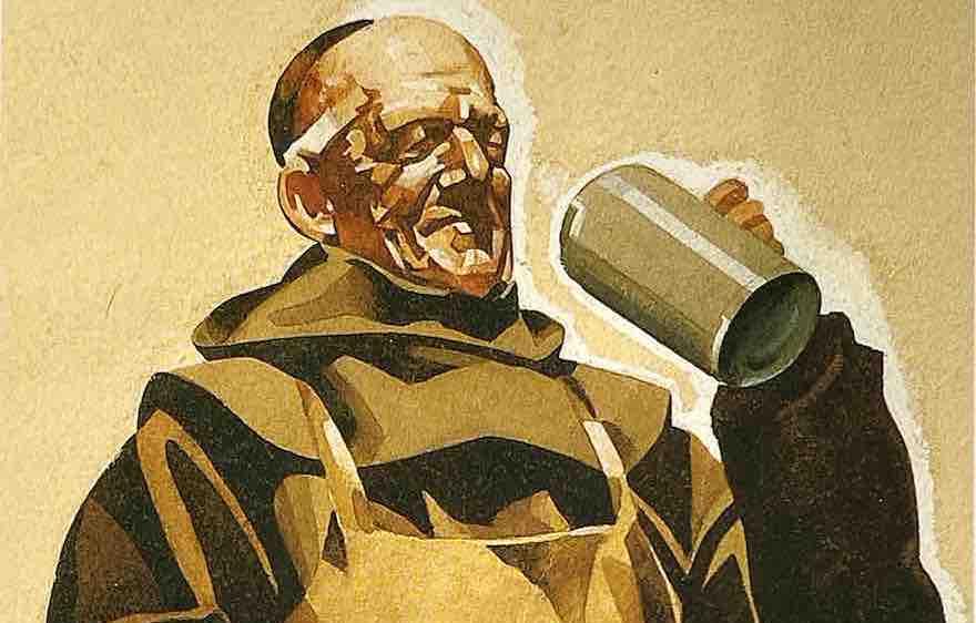 Franziskaner Mönch macht Marke