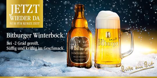 Werbeanzeige Bitburger Winterbock