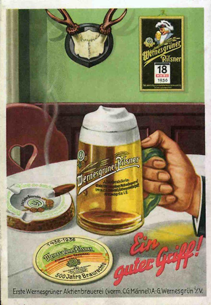 Wernesgrüner Reklame