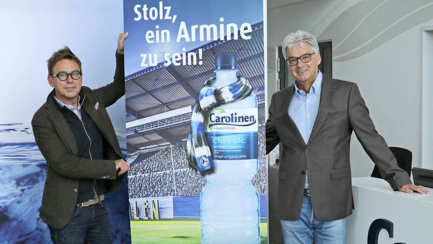 Arminia Bielefeld bleibt Wasserpartner treu