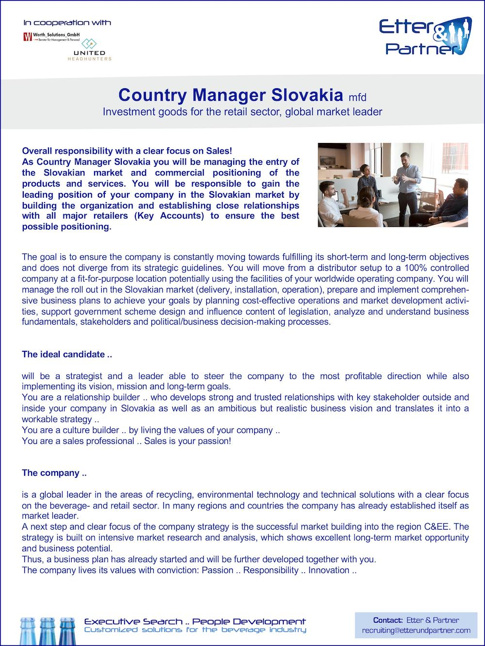 Country Manager Slovakia (m/f/d)