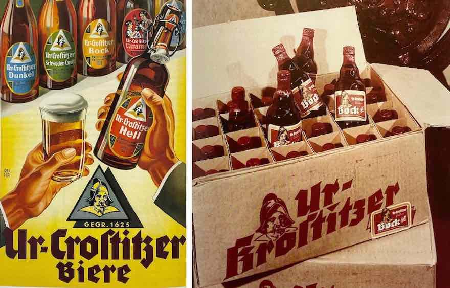 Ur-Krostitzer-Reklame von 1930 und 1970
