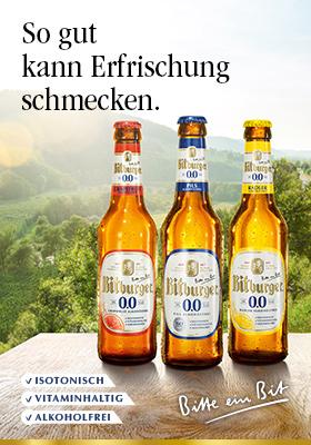 Werbeanzeige Bitburger Alkoholfrei