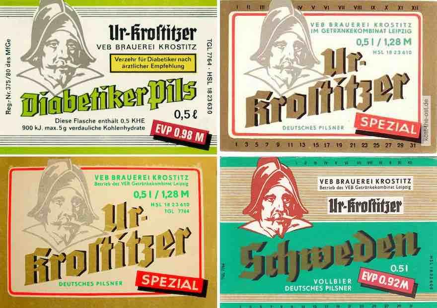 Ur-Krostritzer DDR-Etiketten