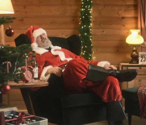 Weihnachtsmann im Eiskanal