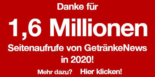 Werbeanzeige 1,6 Millionen in 2020