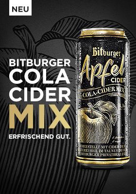 Werbeanzeige Bitburger Cider-Cola