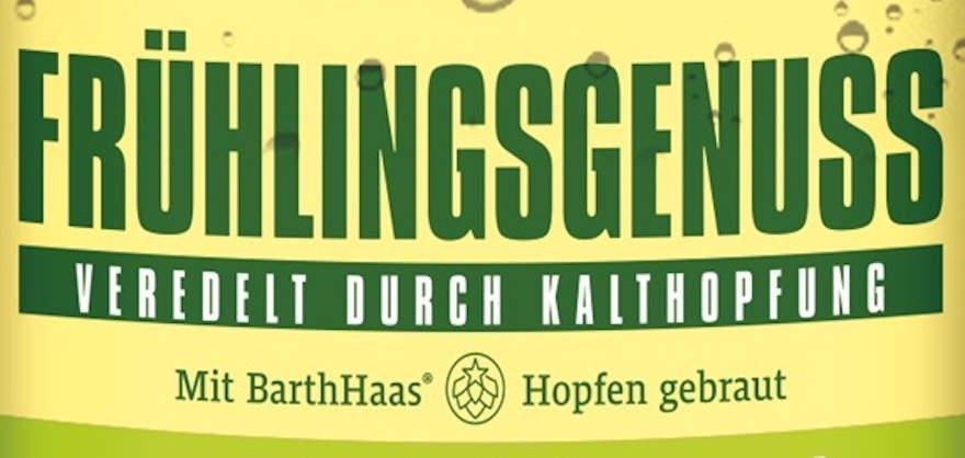 """Ausschnitt Etikett """"Frühlingsgenuss"""""""