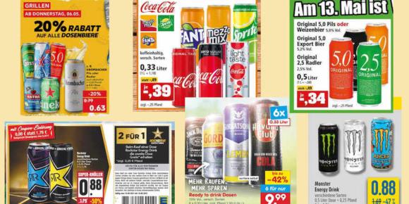 Dosenpreise purzeln in allen Warengruppen